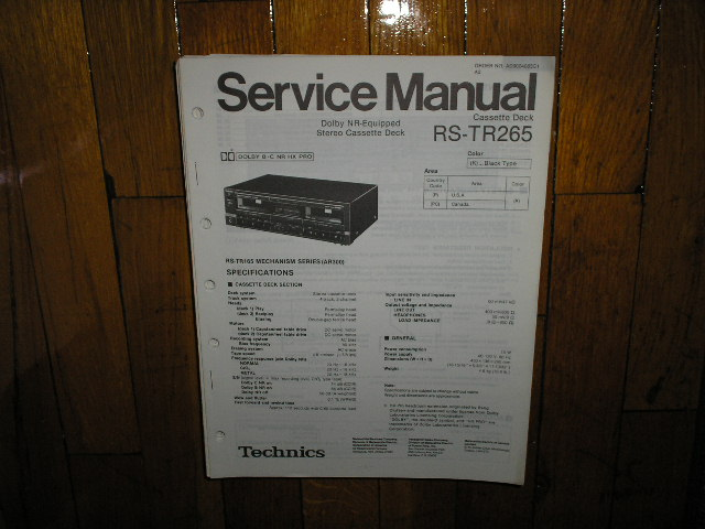RS-TR265 Cassette Deck Service Manual