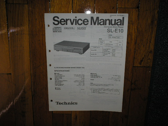SL-E10 CD Player Service Manual
