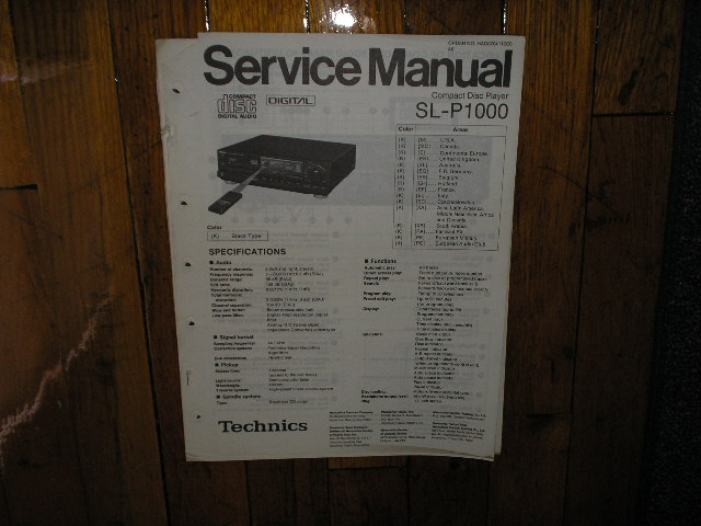 SL-P1000 CD Player Operating Manual