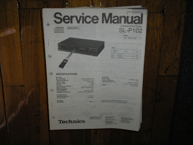 SL-P102 CD Player Service Manual