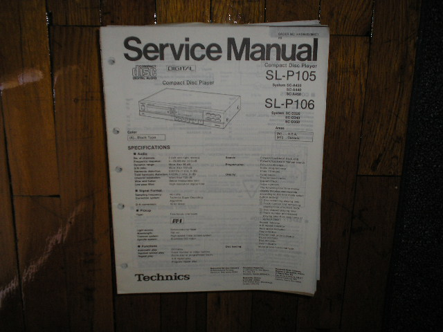 SL-P105 CD Player Operating Manual