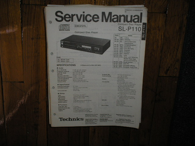 SL-P110 CD Player Service Manual