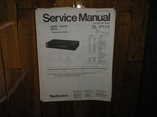 SL-P111 SL-P117 CD Player Service Manual