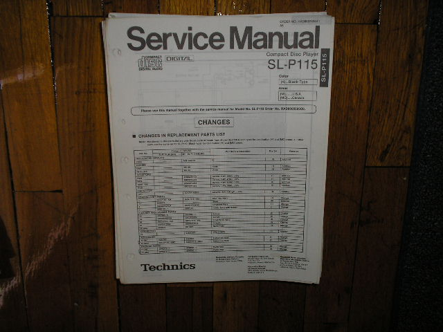 SL-P116 CD Player Service Manual