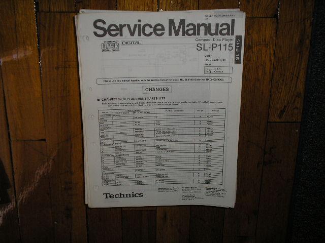 SL-P115 CD Player Service Manual