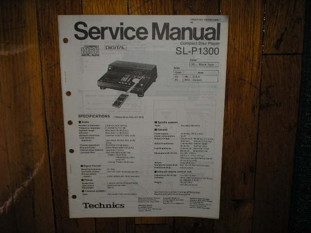 SL-P1300 CD Player Service Manual