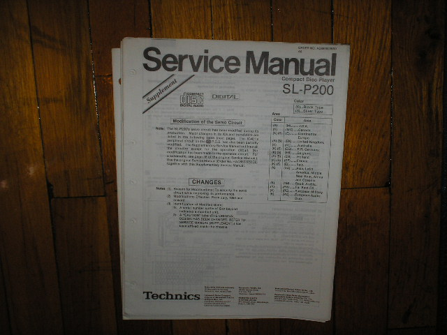 SL-P200 CD Player Service Manual 2... Adjustment Manual
