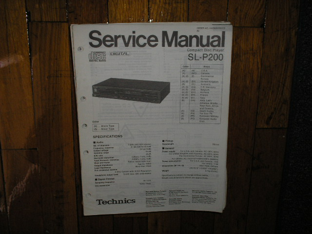 SL-P200 CD Player Operating Manual