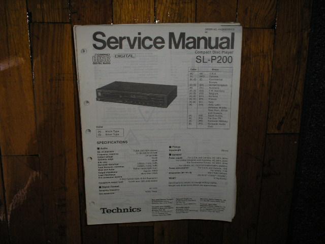 SL-P200 CD Player Service Manual