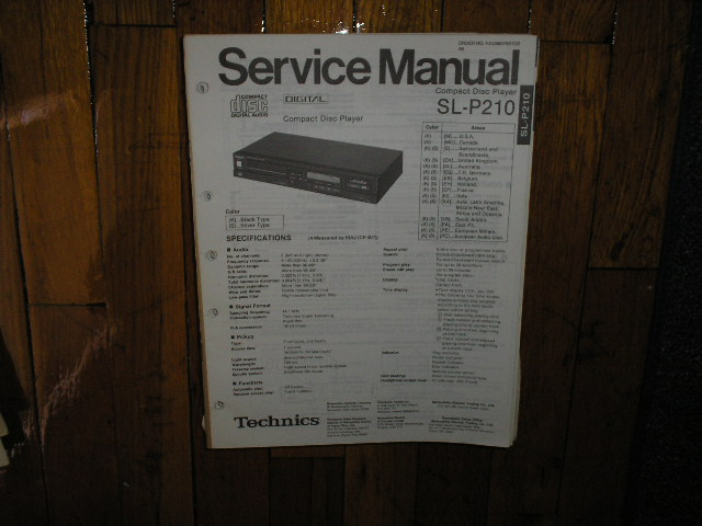 SL-P210 CD Player Service Manual