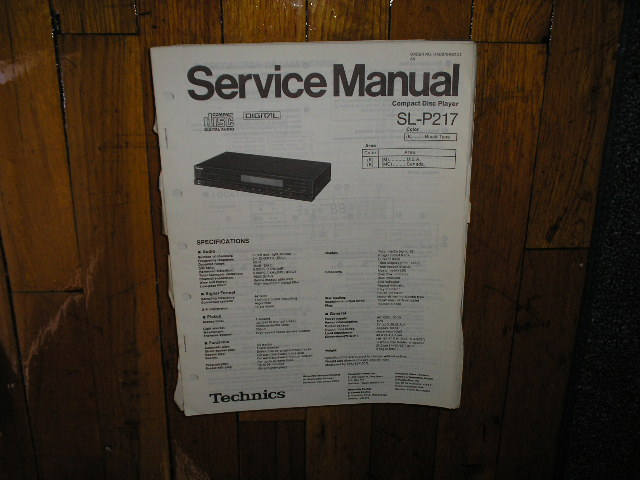 SL-P217 CD Player Service Manual