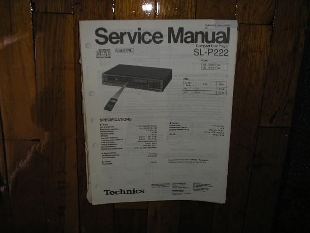 SL-P222 CD Player Service Manual