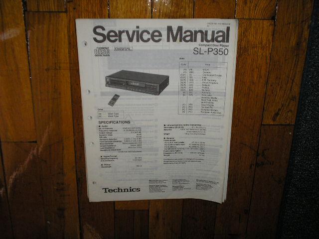 SL-P350 CD Player Service Manual