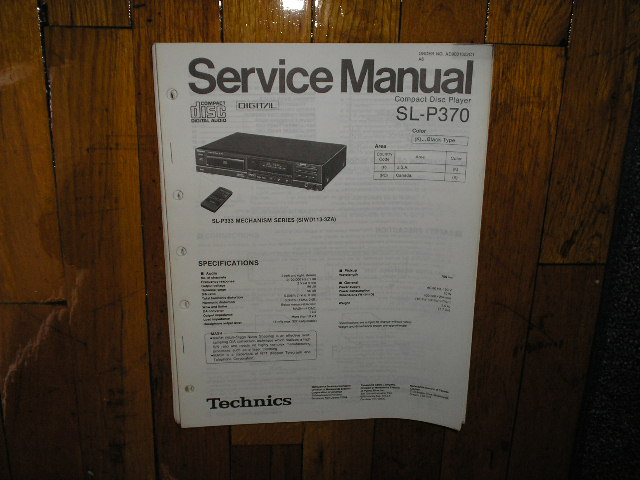 SL-P370 CD Player Operating Manual