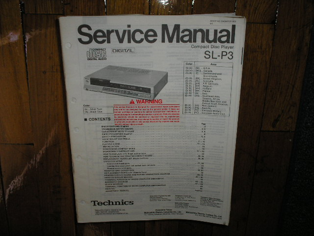 SL-P3 CD Player Service Manual