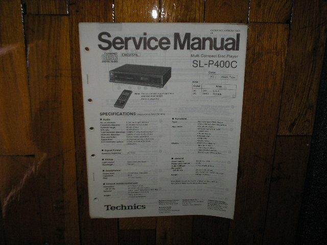 SL-P400C CD Player Service Manual