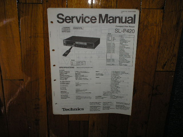 SL-P420 CD Player Service Manual