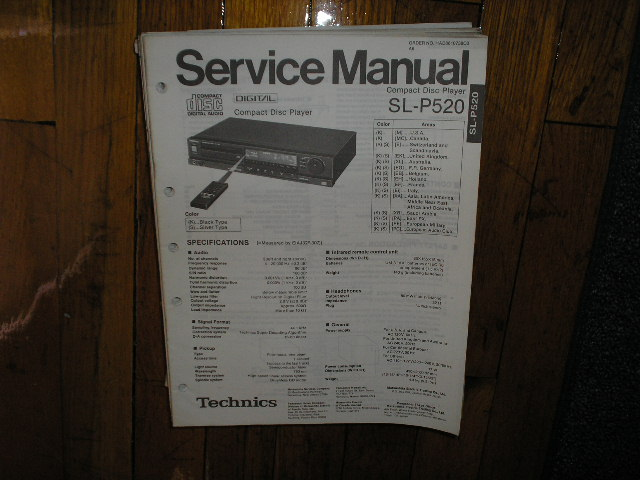 SL-P520 CD Player Service Manual