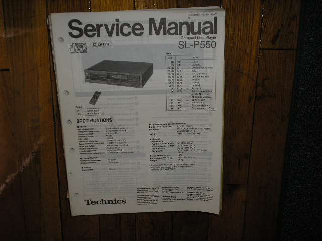 SL-P550 CD Player Service Manual