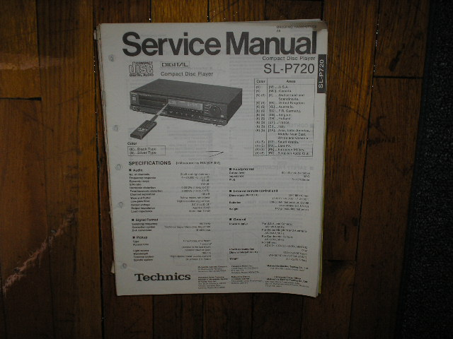 SL-P720 CD Player Service Manual
