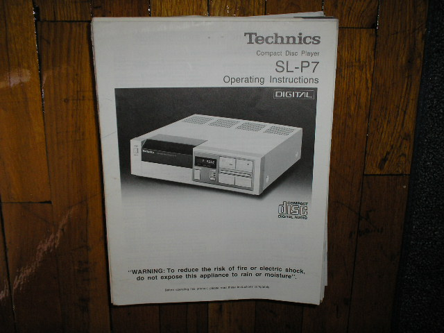 SL-P7 CD Player Operating Manual