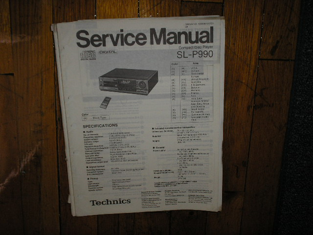SL-P990 CD Player Service Manual