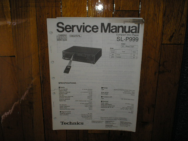 SL-P999 CD Player Service Manual