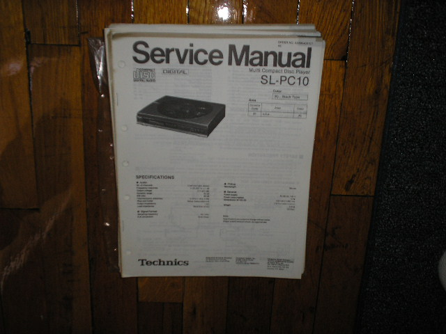 SL-PC10 CD Player Service Manual
