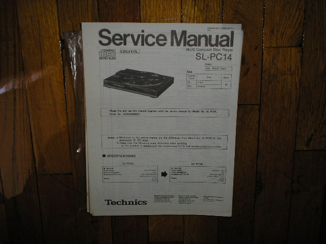 SL-PC14 CD Player Service Manual