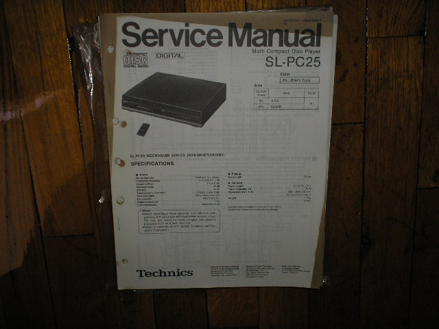 SL-PC25 CD Player Operating Manual