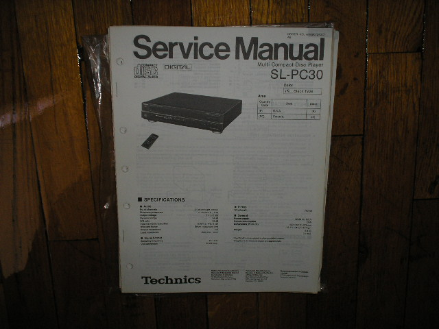SL-PC30 CD Player Service Manual