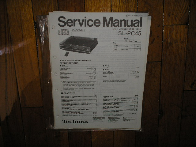SL-PC45 CD Player Service Manual