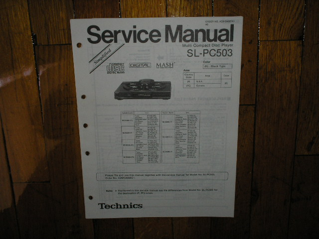 SL-PC503 CD Player Operating Manual