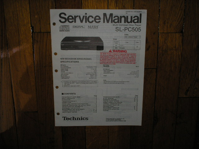 SL-PC505 CD Player Service Manual