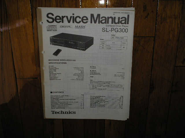 SL-PG300 CD Player Service Manual
