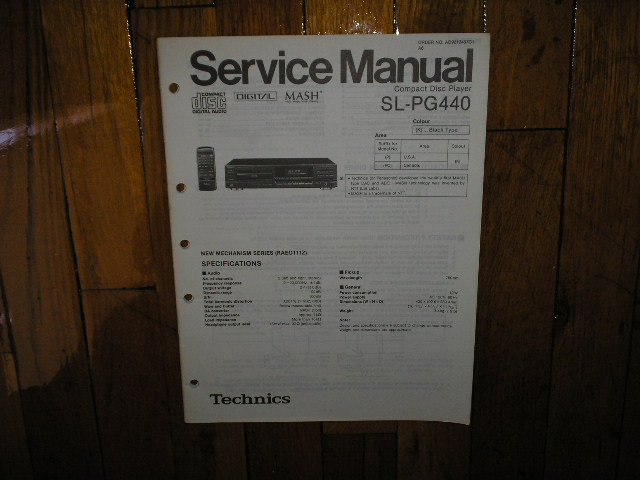 SL-PG440 CD Player Operating Manual