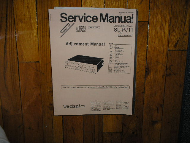 SL-PJ11 CD Player Adjustment Manual