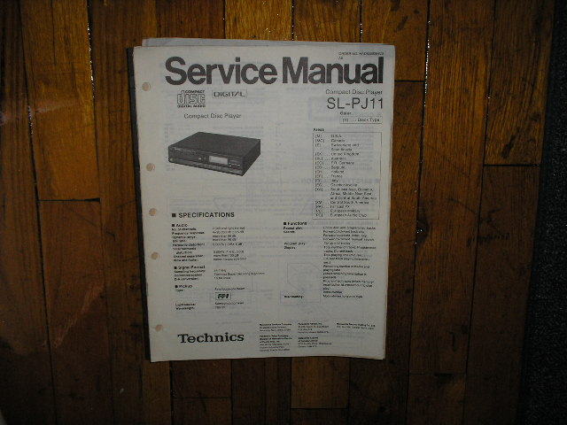 SL-PJ11 CD Player Service Manual