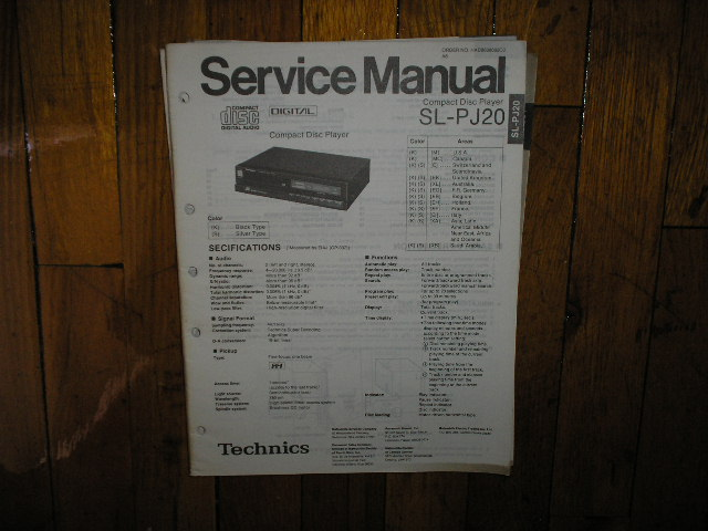 SL-PJ20 CD Player Service Manual
