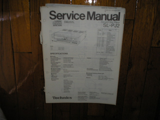 SL-PJ2 CD Player Service Manual