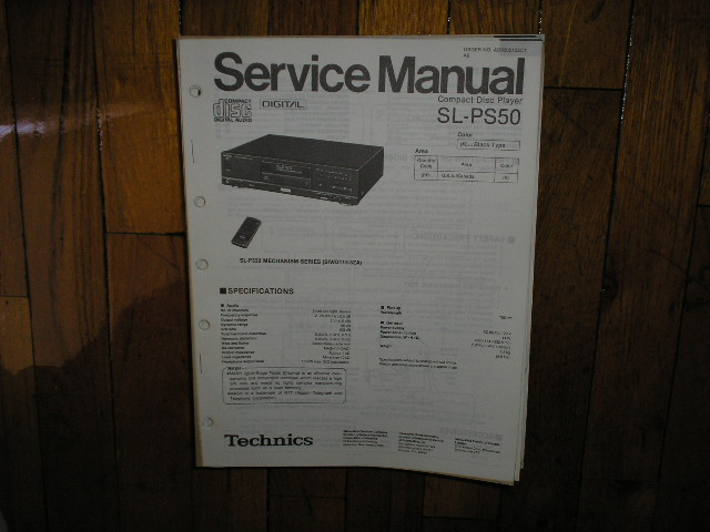 SL-PS50 CD Player Service Manual