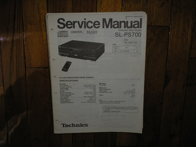 SL-PS700 CD Player Operating Manual