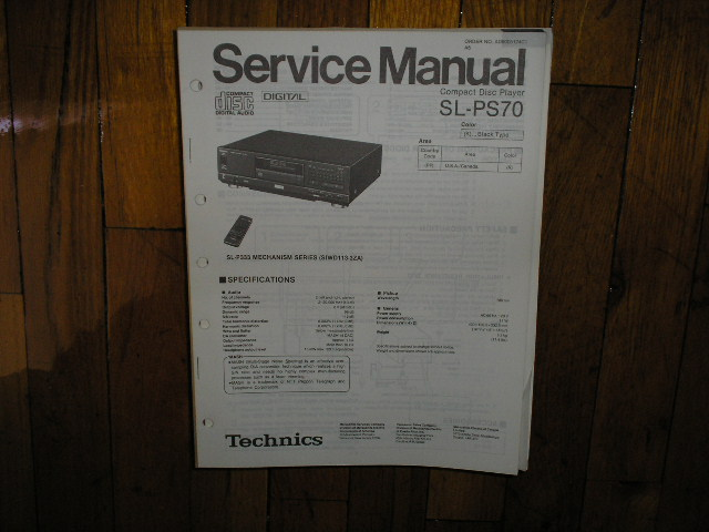 SL-PS70 CD Player Operating Manual