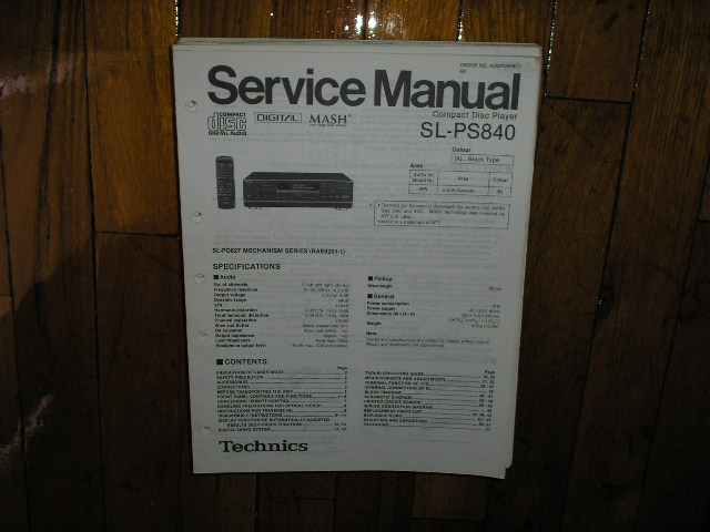 SL-PS840 CD Player Service Manual