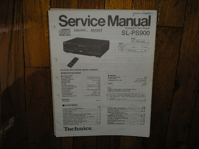SL-PS900 CD Player Operating Manual