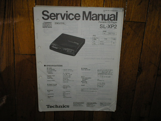 SL-XP2 CD Player Operating Manual