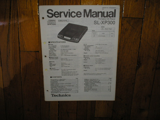 SL-XP300 CD Player Operating Manual