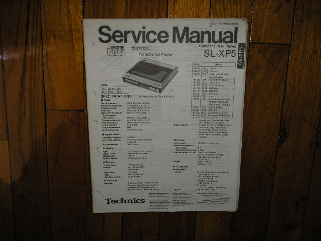 SL-XP5 CD Player Operating Manual