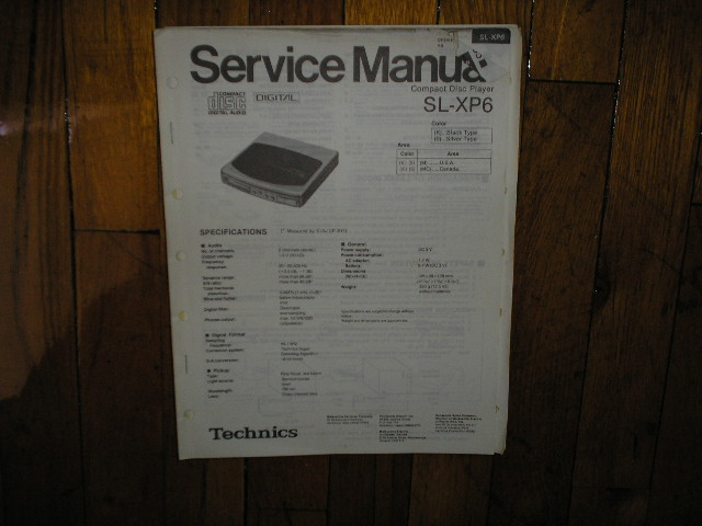 SL-XP6 CD Player Operating Manual