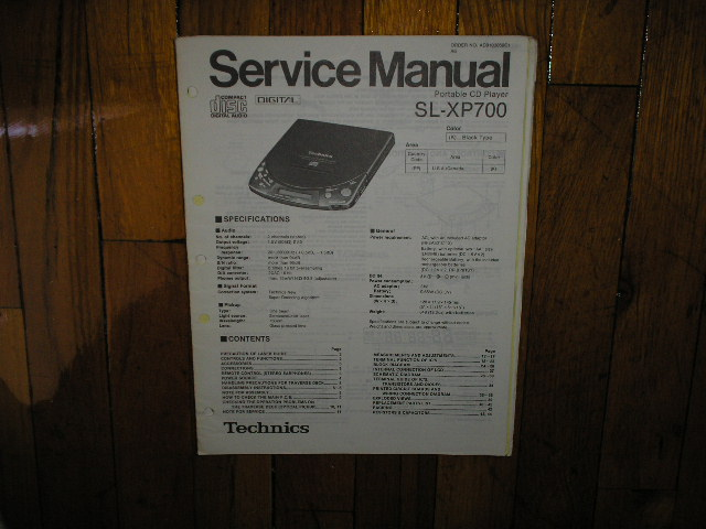 SL-XP700 Portable CD Player Service Manual